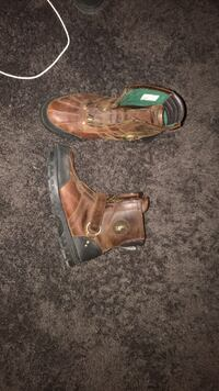New Brown and black polo boots size 10 1/2