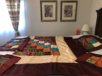 Reduced Silk Bedspread and Pillowcases 570 km