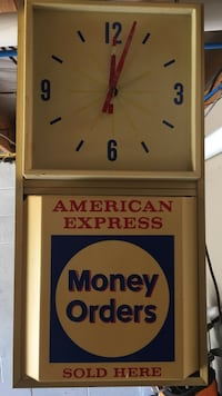 Old American Express advertisers clock Kingsport, 37664