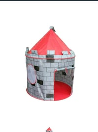 gray and red siege camp tent toy Thane, 400615