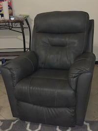 Dark Grey leather  recliner Harvey, 70058