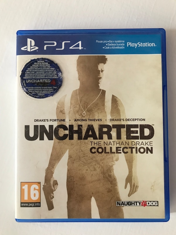 Uncharted 1-2-3 ps4 oyun diski