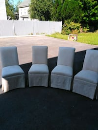 cloth high back upholstered dining room chairs, very beautiful  Waltham, 02453