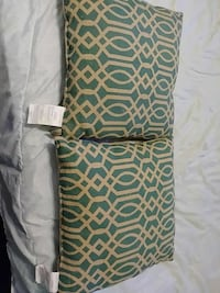 two green-and-white printed pillows Brownsville, 78520