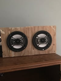 two black-and-gray subwoofers Halifax, B3R 1J9