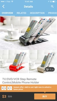 Step remote control and mobile phone holder