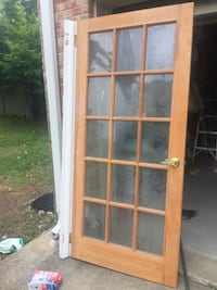 brown wooden framed glass door Upper Marlboro, 20774