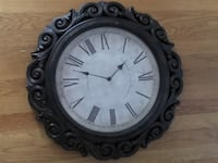 round black wooden framed analog wall clock Washington, 20024