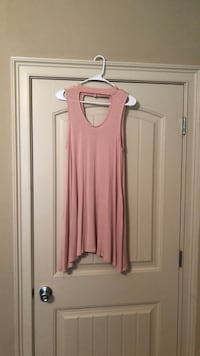 Women's pink sleeveless Dress 602 mi