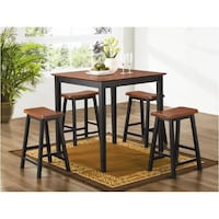 Coaster Furniture Murdock 5pc Table/bar Stool Pub Set 150293n - $175 (MISSOURI CITY) Missouri City