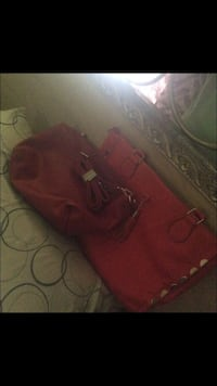 Red leather handbags Annandale, 22003