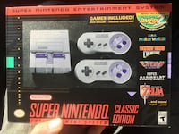 Super Nintendo entertainment system (brand new in box never been opened)