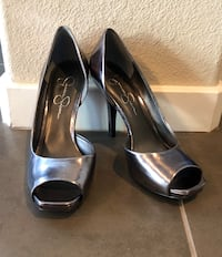 Only worn a few times Jessica Simpson pewter heels. Mint condition.  Las Vegas, 89138