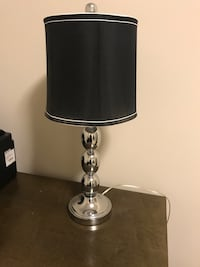 Silver Table Lamp with Black Shade Rockville, 20852