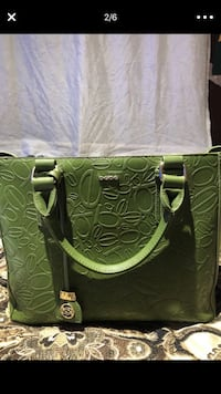 green and black leather tote bag Oakland, 94603