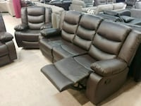 gray leather home theater sofa Brampton, L6T 1A1