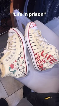 Custom hand painted chuck taylors hightop