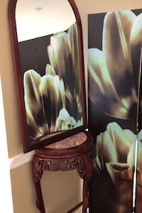 Rosewood marble hall table and mirror  King, L0G 1T0