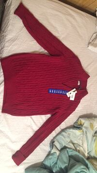 red and black knit  sweater Toronto, M2M 2C5