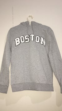 gray Boston pullover hoodie