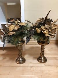Christmas poinsettias vase stands decorations Calgary, T3H 5X5