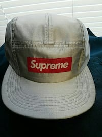 gray and red Supreme 5-panel hat Portland, 04102