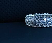 silver-colored and diamond studded bracelet Miami, 33142
