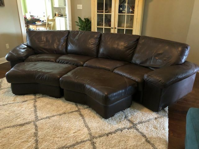 Bassett John Elway Edition Full Leather Sofa/Couch