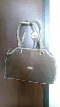borsa in pelle marrone Torgiano, 06089