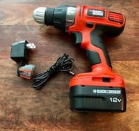 Black & Decker 12v Cordless Drill Washington, 20011