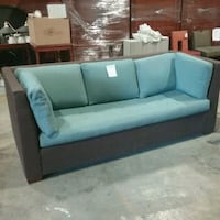 Brown couch with blue cushions  Oakville, L6L 5N1