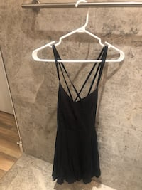 Black open back strappy dress urban outfitters size 4, fits XS/S Toronto, M5V 3S2