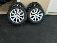 Four tires and wheel set Capitol Heights, 20743