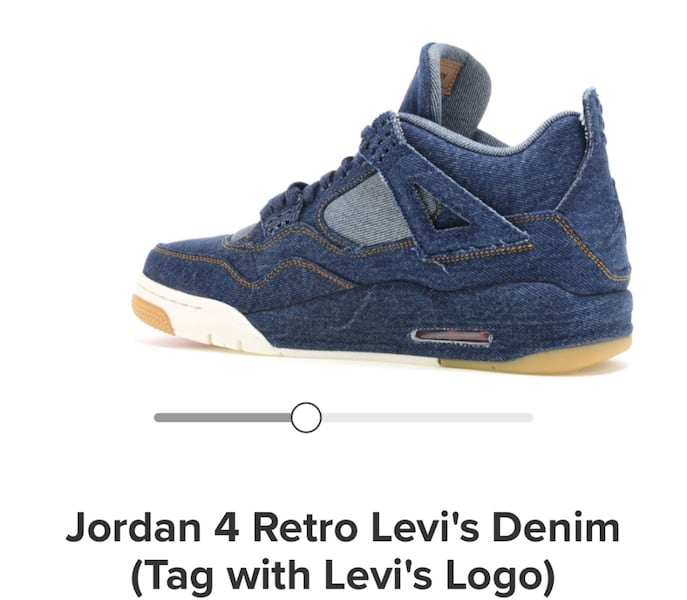 Jordan4 Levi's with tag size10 1