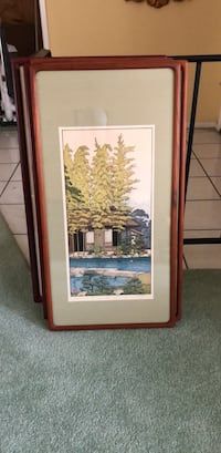 "japanese framed print 31"" x 16 Diamond Bar"