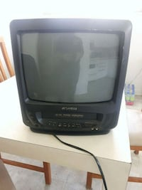 black CRT TV with remote Laval, H7W 2N7