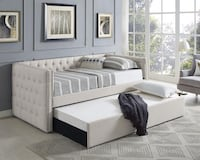 Trina Ivory Twin Daybed with Trundle