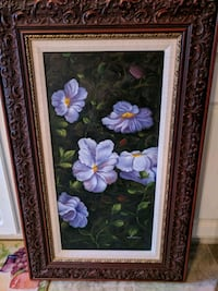 purple and white flower painting St Peters, 63376