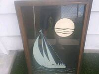 Wood frame glaas picture (sail boat) Hickory Hills, 60457