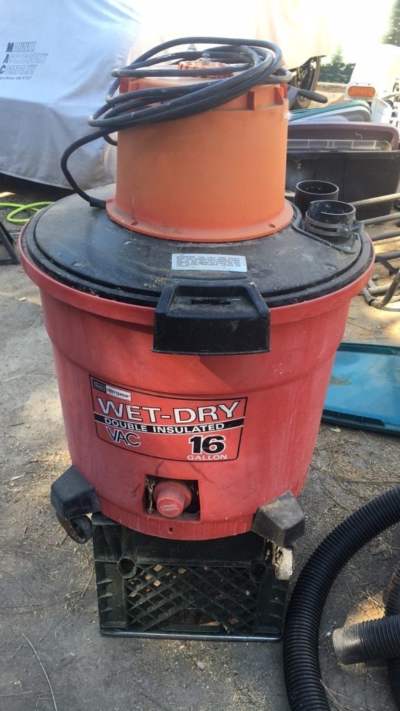 orange and black Ridgid wet and dry vacuum cleaner for sale  Los Angeles