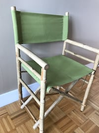 ZEW Canvas and Bamboo Director Chair