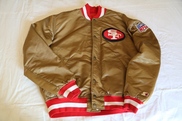 5496a2958cb Used Authentic Vintage Starter San Francisco 49ers Gold Jacket for ...