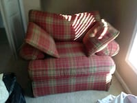 red and white plaid sofa chair Forest Hill, 21050
