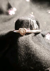 925 stackable heart ring.