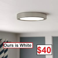 AJ - BRAND NEW - Authement 1-Light LED Flush Mount - White Mississauga