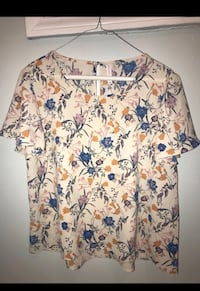white, blue, and red floral scrub shirt Colchester, 06415