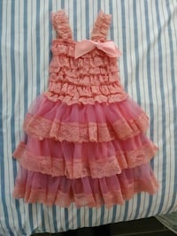 Girls coral/pink Easter dress size 12 months Dallas, 75212