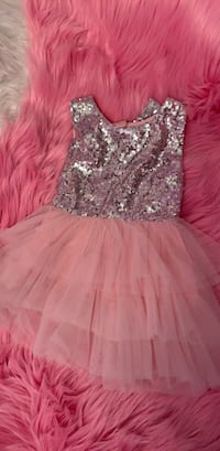 women's pink and silver sequin sleeveless dress Ontario, 91761