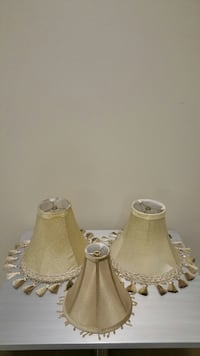 GOLD FABRIC LAMP SHADES - price for ALL THREE together - firm.