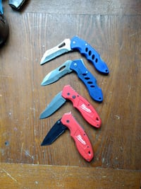 three folding knives